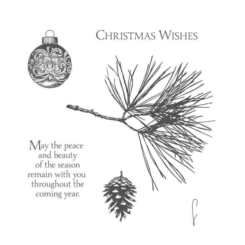 Ornamental Pine Christmas Card Idea