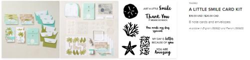 Card kits  A LITTLE SMILE CARD KIT