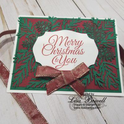 Christmas Pinecone Die card