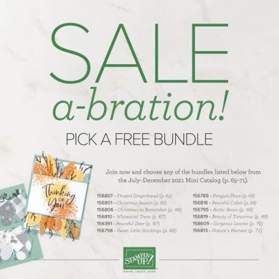 Saleabration, pick a FREE Bundle